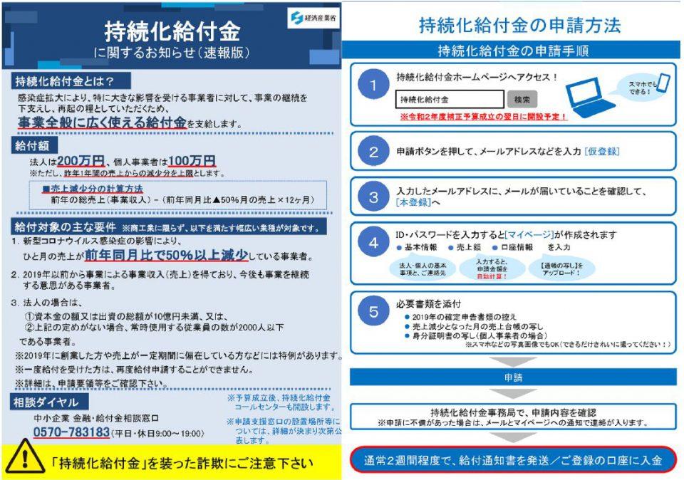 持続化給付金申請方法
